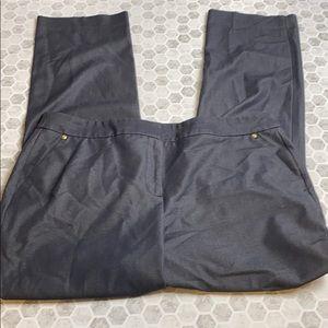 Dana Buchman Size 12 Gray Slack Trousers
